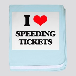 speeding tickets baby blanket