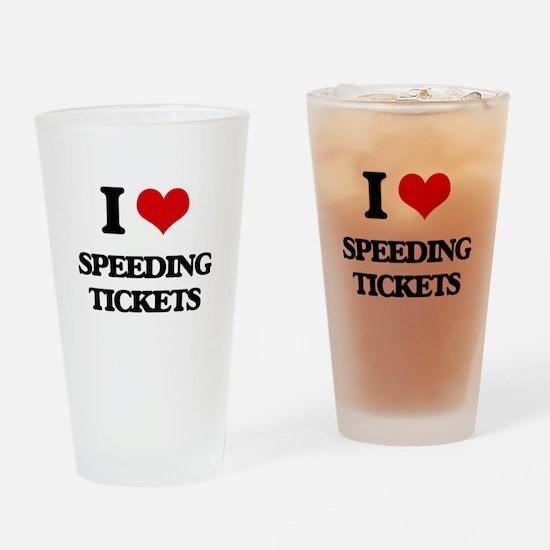 speeding tickets Drinking Glass