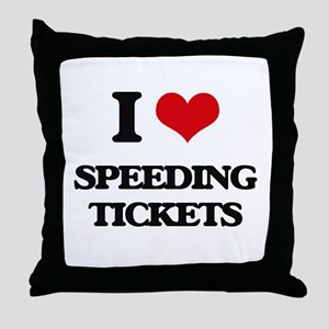 speeding tickets Throw Pillow