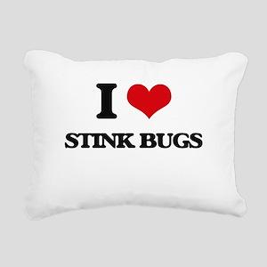 stink bugs Rectangular Canvas Pillow
