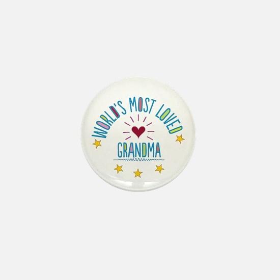 World's Most Loved Grandma Mini Button