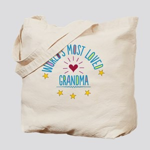 World's Most Loved Grandma Tote Bag