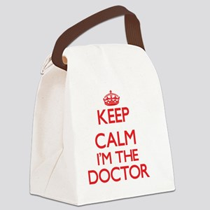 Keep calm I'm the Doctor Canvas Lunch Bag
