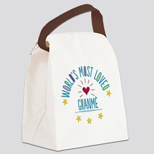 World's Most Loved Granme Canvas Lunch Bag