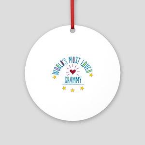 World's Most Loved Grammy Ornament (Round)