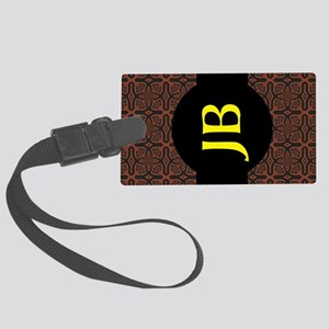 Fire Maze Tile Large Luggage Tag