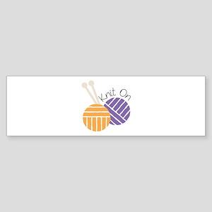 Yarn_Knit On Bumper Sticker