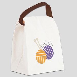 Yarn_Knit On Canvas Lunch Bag
