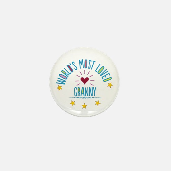 World's Most Loved Granny Mini Button