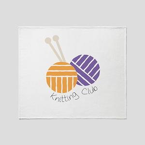 Yarn_Knitting Club Throw Blanket