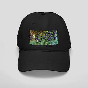 Irises by van Gogh Vintage Post Impressi Black Cap