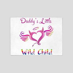 Daddy's Little Wild Child 5'x7'Area Rug