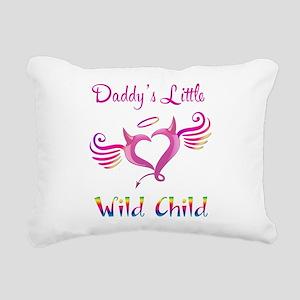 Daddy's Little Wild Child Rectangular Canvas Pillo