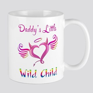 Daddy's Little Wild Child Mugs