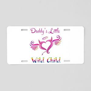 Daddy's Little Wild Child Aluminum License Plate