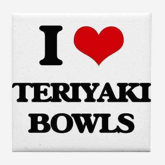 teriyaki bowls Tile Coaster