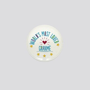 World's Most Loved Granme Mini Button