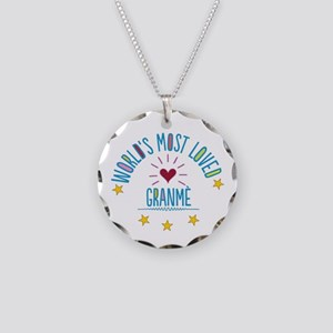 World's Most Loved Granme Necklace Circle Charm