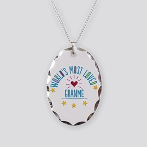 World's Most Loved Granme Necklace Oval Charm