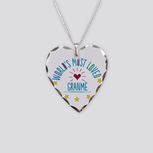 World's Most Loved Granme Necklace Heart Charm
