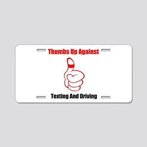 Red Thumbs Up Aluminum License Plate
