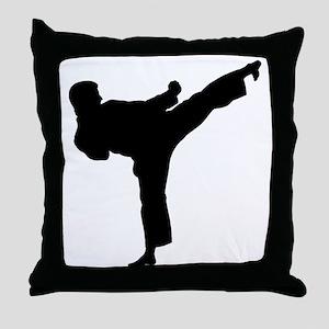 Karate Kicker Throw Pillow