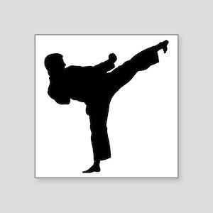 """Karate Kicker Square Sticker 3"""" x 3"""""""