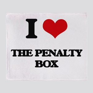 the penalty box Throw Blanket