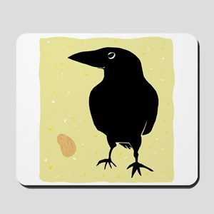 Crow with Peanut Mousepad