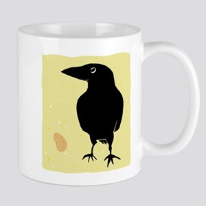 Crow with Peanut Mugs