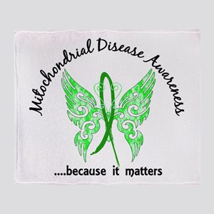 Mitochondrial Disease Butterfly 6.1 Throw Blanket
