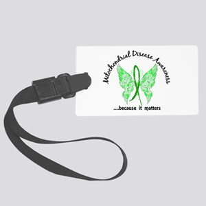 Mitochondrial Disease Butterfly Large Luggage Tag