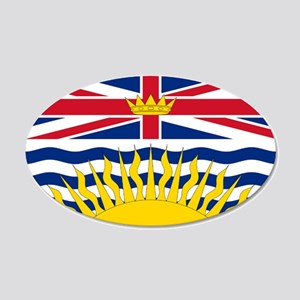 British Columbia flag 20x12 Oval Wall Decal