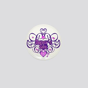 Daddy's Girl Purple/Pink Mini Button