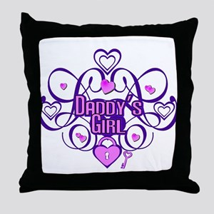 Daddy's Girl Purple/Pink Throw Pillow