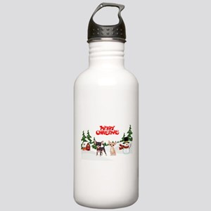 Merry Christmas Chihua Stainless Water Bottle 1.0L