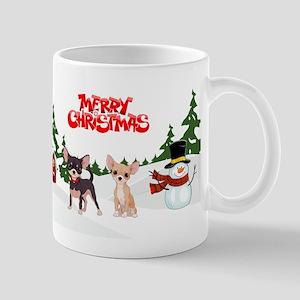 Merry Christmas Chihuahuas Mugs