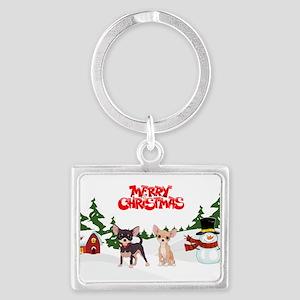 Merry Christmas Chihuahuas Keychains