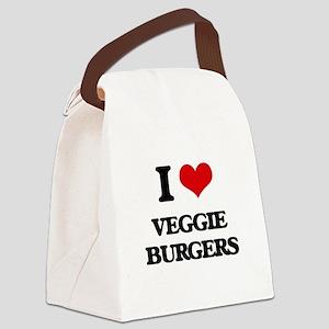 veggie burgers Canvas Lunch Bag