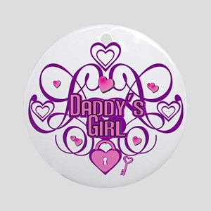 Daddy's Girl Pink/Fuschia Ornament (Round)