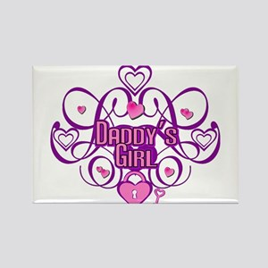 Daddy's Girl Pink/Fuschia Rectangle Magnet