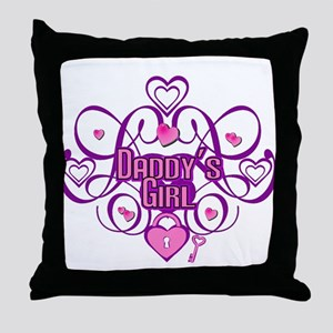 Daddy's Girl Pink/Fuschia Throw Pillow