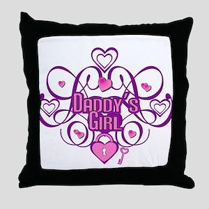 Daddy's Girl Pink/Fuschia Throw Pillow