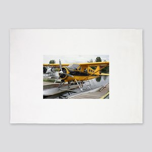 Beaver float plane, Lake Hood, Alas 5'x7'Area Rug