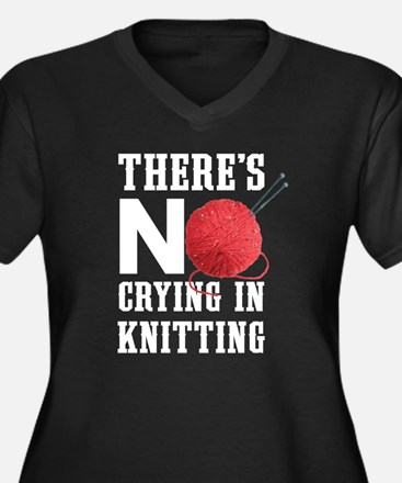 No Crying In Knitting Plus Size T-Shirt