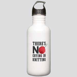 No Crying In Knitting Stainless Water Bottle 1.0L