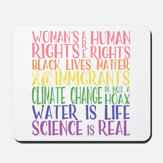 political protest - united we are strong Mousepad