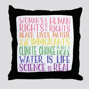 political protest - united we are str Throw Pillow