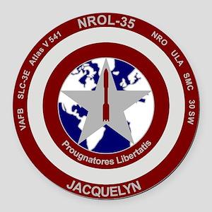 NROL-35 Launch Logo Round Car Magnet
