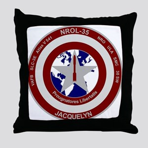 NROL-35 Launch Logo Throw Pillow